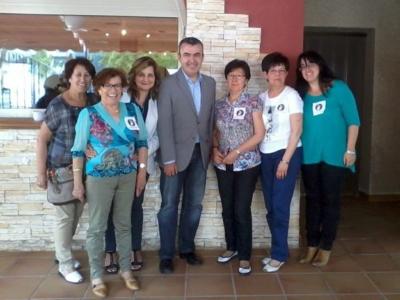 Clubes de Almansa con Lorenzo Silva en el encuentro 2014
